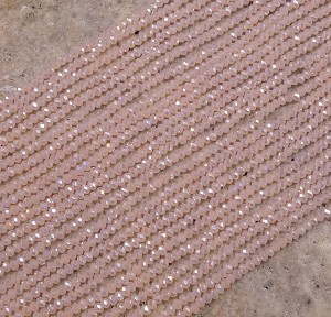 Crystal 2mm Rondelle Rose Peach AB