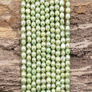 Pearl 4.5-5mm Rice Dyed Light Green