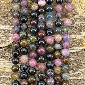 Multi Tourmaline 8mm Round