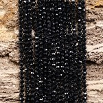 Black Spinel 4mm Micro Faceted Round