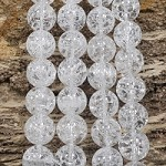 Crackle Crystal Quartz 14mm Round