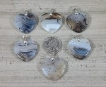 Dendritic Agate 30x30mm Heart Pendant