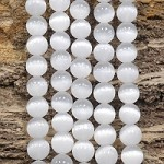 Selenite 10mm Round (Stabilized) Grade AA