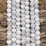 Selenite 8mm Round (Stabilized) Grade AA