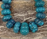 Hubei Turquoise 17-32mm Graduated Carved Pumpkin Shape