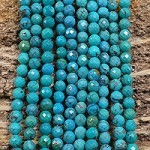 Hubei Turquoise 5-6mm Faceted Round