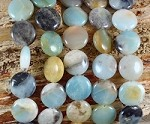 Multi Amazonite 15mm Coin