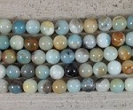 Multi Color Amazonite Round 2.5mm Hole 8mm