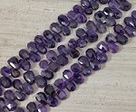 Amethyst Top Drilled 12-14x14-18mm Faceted Nugget