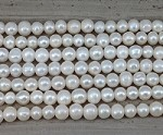 Pearl White Potato 2.5mm Hole 10-11mm Grade A