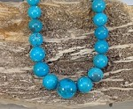 Nacozari Turquoise 12-18mm Graduated Round 20in Long