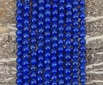 Natural Lapis 6mm Round Grade AA