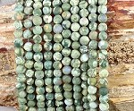 Rainforest Jasper aka Green Rhyolite 6mm Matte Round Grade A