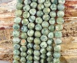 Rainforest Jasper aka Green Rhyolite 8mm Matte Round Grade A