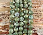 Rainforest Jasper aka Green Rhyolite 10mm Round Grade A