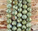 Rainforest Jasper aka Green Rhyolite 12mm Round Grade A
