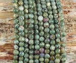 Rainforest Jasper aka Green Rhyolite 6mm Round Grade A