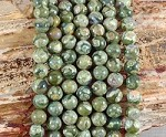 Rainforest Jasper aka Green Rhyolite 8mm Round Grade A