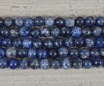 Sodalite Round 2.5mm Hole 10mm