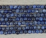 Sodalite Round 2.5mm Hole 8mm
