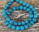 Ma'an Shan Turquoise 9.5-10mm Round Carving