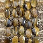 Yellow Tiger Eye 15x20mm Oval