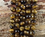 Yellow Tiger Eye 10mm Faceted Round A Grade
