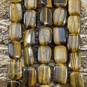Yellow Tiger Eye 15x20mm Rectangle
